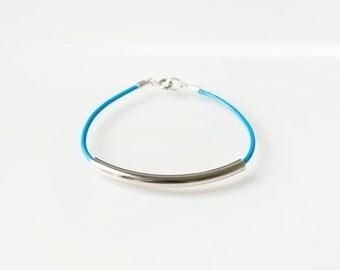 Blue bar bracelet