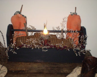 Primitive pumpkins and toolbox Pattern MAILED