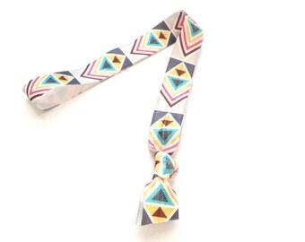 1 Desert Aztec Print Handmade Elastic Headband