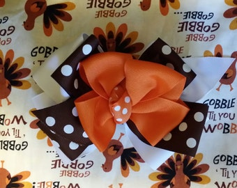 Fall bow. Perfect to match Gobble dress!