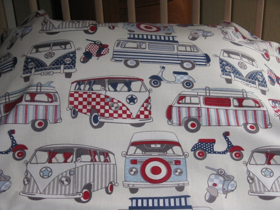 Items Similar To VW Campervan And Retro Scooter Bedding