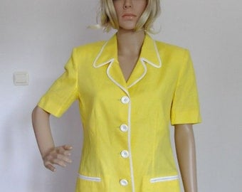 Vintage New Old Stock Girls / Womens summer linen Jacket  Luisa Spagnoli  Size S/M