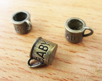 15pcs 8.5x9mm Antique Bronze Lovely 3D Smaller Cup Charm Pendant Jewelry Supplies A1045-16A