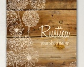 SHOP BANNERS Rustica III Etsy Shop Banner Set