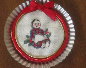 Folk Art Doll Christmas Ornament