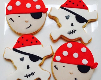 Pirate themed cookies