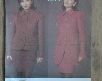 Vogue American Designer Oscar de la Renta Vogue 1488 Ladies Jacket Sewing Pattern