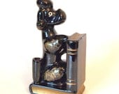 Reserved for Colie - Vintage Black Poodle Bookend/Figurine - Made in Japan - Circa 1950