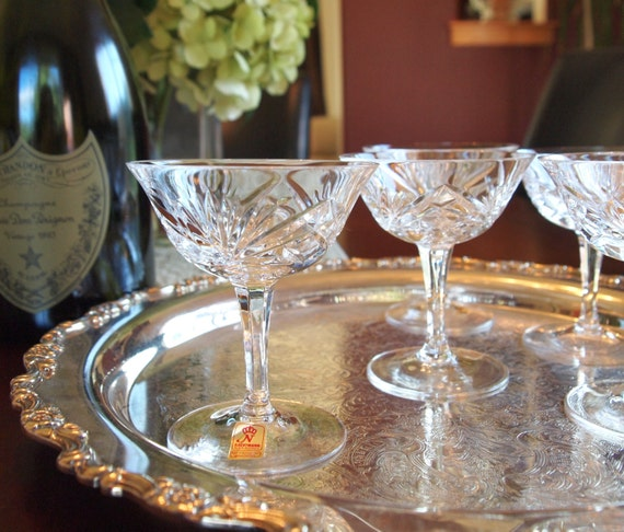 Vintage Nachtmann Bleikristall Diamond Cut Lead Crystal Cordial/Liqueur Glasses - Set of 5 Circa 1950 - West Germany