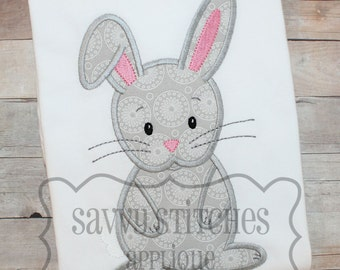 Bunny Machine Embroidery Applique Design