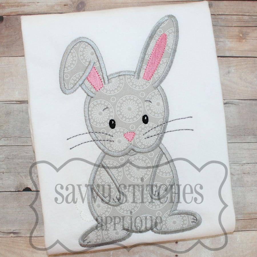 Bunny machine embroidery applique design