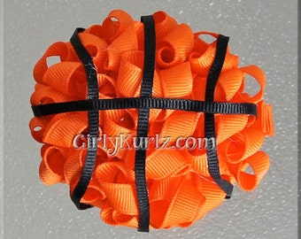Basketball Hair Bow Basketball Bow NBA Hair Bow Basketball Hair Clip