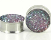 Alice Glows In The Dark Sparkle Plugs - 8g,6g,4g,2g,0g,00g,1/2, 9/16, 5/8,11/16,3/4,7/8,24mm,26mm,28mm,30mm,32mm