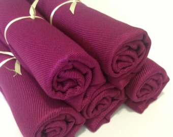 5 purple cranberry pashminas, pashmina set, pashmina scarf, shawls, wrap, bridal shawl, bridesmaid shawl, wedding favors, gifts, keepsakes
