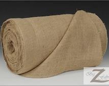 "Natural Burlap Fabric Roll - 50 YARDS - 40"" Width Hessian Fabric Craft Sack Wreath Hammock Table Runner Decorations Jute"