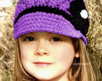 Crochet Hat Pattern Girl Crochet Hat Daisy Visor Beanie Hat Crochet PDF 150 Newborn to Adult  Instant Download
