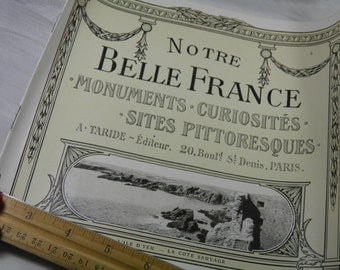 WWI Soldier Souvenir  - French Tourist Sights Booklet # 5 - Notre Belle France