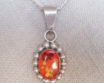choker cameo necklace, orange cameo with flower choker, orange retro floral cameo choker, unique real flower jewelry, sweet 16 holidays gift