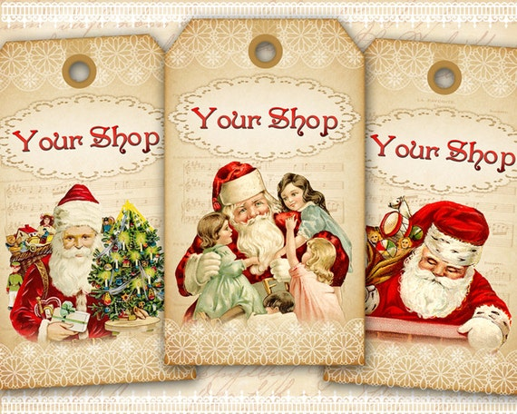Christmas Business Tags Gift Tags Personalized Gift Tags On