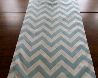 Spa BLUE TABLE RUNNER Wedding Showers Chevron Table Runners Holiday Party Table Cloth Decorative blue baby Shower 48 60 72 84 96