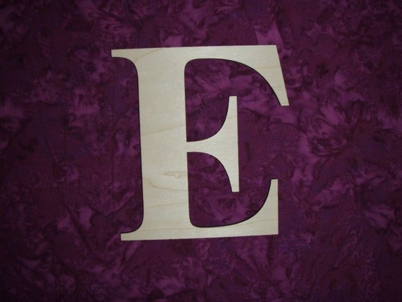 Unfinished wood letter e wooden letters 6 inch tall times new for 3 inch wooden letters