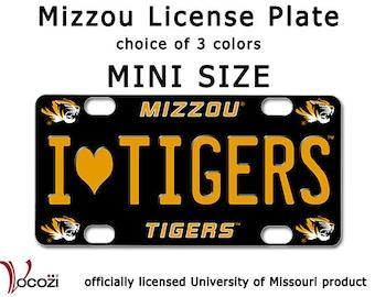 Mizzou Tiger MINI Decorative License Plate SIgn             - Missouri Tiger  - Univ of Missour