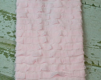 Baby Pink 1 Inch Ruffle Blanket Perfect for Photo Shoot Backdrop, Infant Photo Prop, Newborn Photo Prop, Photography Backdrop