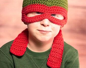 Orange Ninja Turtle Hat