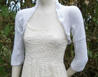 WEDDING Shrug bolero ORGANIC Cotton romantic handknit