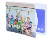 Oyster Card Holder - Passengers on the tube