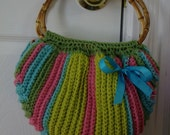 CROCHET PATTERN - Multi color Fat Bottom Bag - Permission to Sell Finished Products - Instant Download
