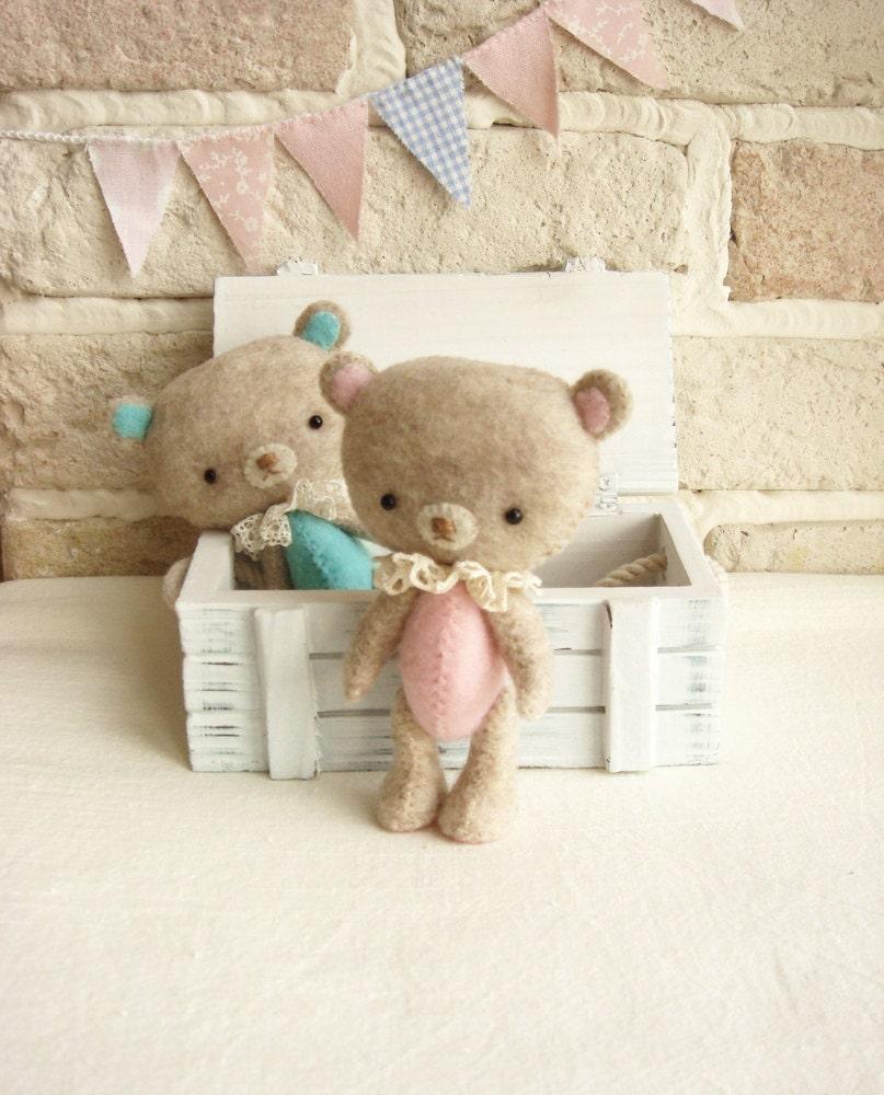 Soft Toys With Pockets : Pocket bear miniature soft toy handmade