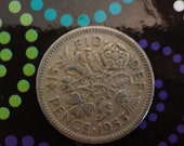 1953 And A Silver Sixpence In Her Shoe Wedding Bride Groom Shoes Bridal Shower Gift Keepsake Coin Token of Luck