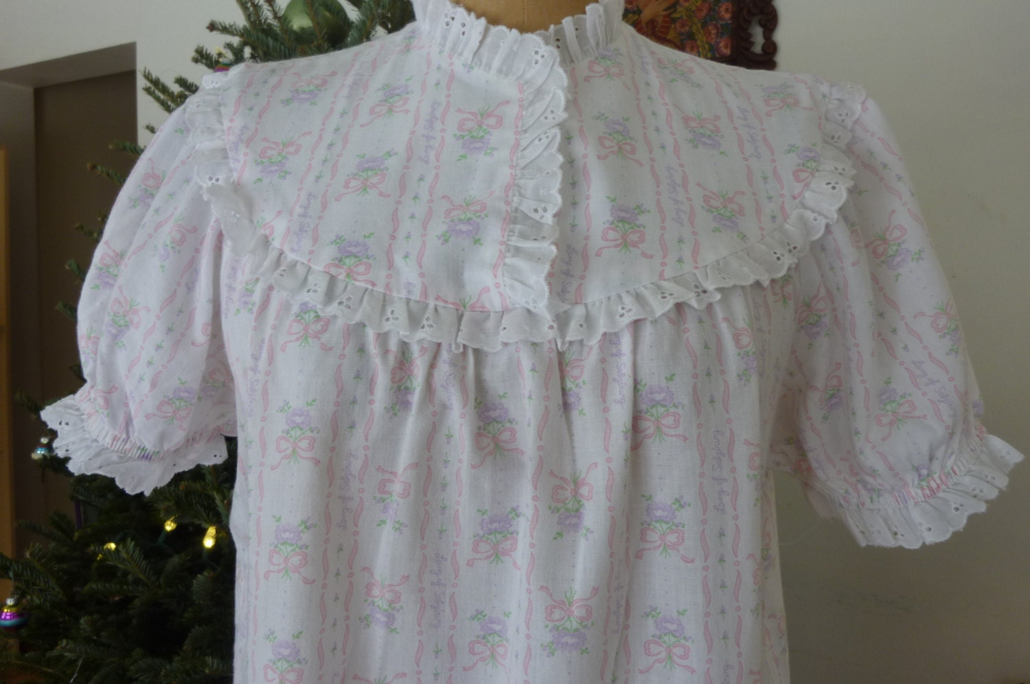 Lanz Of Salzburg Nightgown Vintage Cotton Nightgown Made In