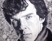 Benedict Cumberbatch (Sherlock Holmes) Charcoal Drawing