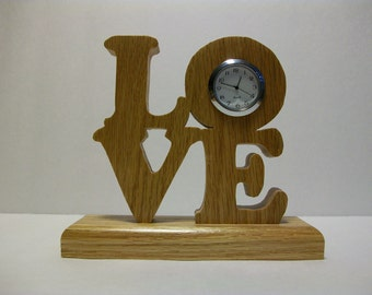 LOVE Desk Clock