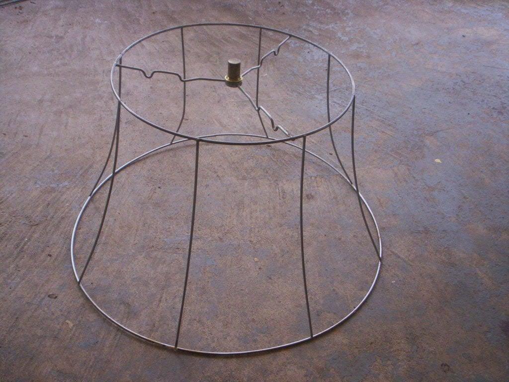 19 39 39 diameter lamp shade frame vintage wire lamp by. Black Bedroom Furniture Sets. Home Design Ideas