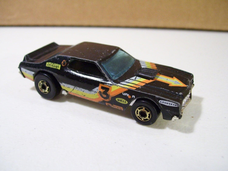 1974 Hot Wheels Black Ford Gran Torino Stocker By