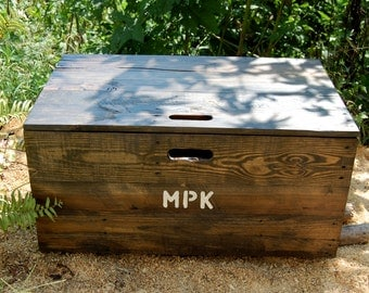 Wooden Crate Rolling Toy Chest/ Large Storage Box/Toy Storage/ Organization