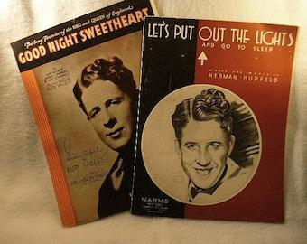 2 Vintage 1931 and 1932 Rudy Vallee Favorites Original Piano Music