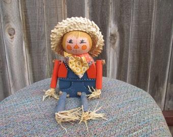 Handmade Wooden Scarecrow