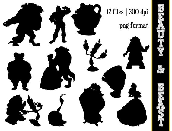 Beauty The Beast Silhouettes Disney Princess Belle Silhouette Clipart And