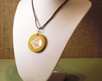 Collage Poker Chip Necklace