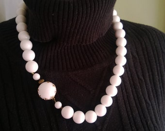 White Bead Necklace made in Austira