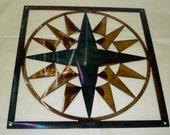 "12"" Mariners Compass Quilt Block Barn Quilt"