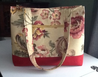 Beautiful Fall Purse with exterior zippered pocket