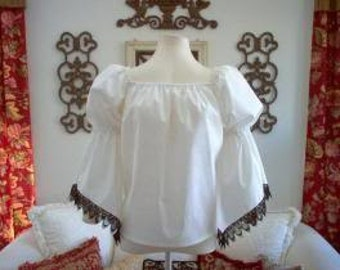 Pirate Renaisssance Chemise Shirt With Lace Trim Other Colors Available