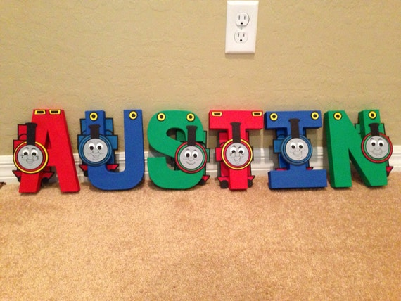 items similar to thomas the train letters or name on etsy With thomas the train letters