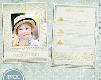 Photography Price Guide template - Price List photoshop template, psd files - INSTANT DOWNLOAD