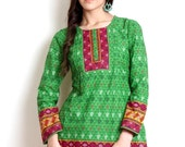 Women Green Printed Kurti  (Perfect Gift For Women) Super Fast Delivery : Your Daughter, GF and Wife will have big Smile and Happiness